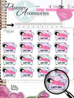 Sticker - Lazy Day Sticker NR929 - ein Designerstück von PlannerAccessories bei DaWanda