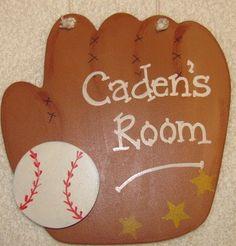 BASEBALL  Door sign kids room decor by Idontgiveacraft on Etsy, $7.95