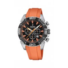 Orange Color, Colour Black, Casio Watch, Stainless Steel Case, Matcha, Chronograph, Watches For Men, Quartz, Bike