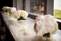 Beautiful floral centerpieces created by MWD