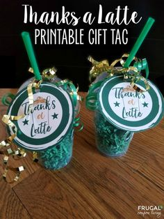 Free Thanks a Latte Printable. This makes an adorable Starbucks Gift Card Tag. Toss in a clear coffee cup and gift to a teacher for teacher appreciation week. Also great for a coach, neighbor or friend! Thanks A Latte, Teacher Appreciation Gifts, Teacher Gifts, Volunteer Appreciation, Teacher Party, Diy Holiday Cards, Christmas Cards, Movie Gift, Starbucks Gift Card