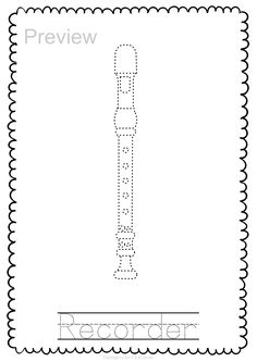 Woodwind Instrument Trace and Color Pages English Horn, Woodwind Instrument, Music Worksheets, Bassoon, Teaching Music, Music Education, Musical Instruments, Coloring Pages, Music Activities For Kids