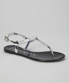 Take a look at this Black Crystal Fruity Sandal by Henry Ferrera on #zulily today!
