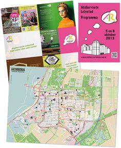 Voor Atelierroute Lelystad 2013 heeft Inaxion naast flyers, raamposters en wegposters dit programmaboekje gemaakt. Ook de uitklapbare routekaart is zeer gedetailieerd ingetekend.