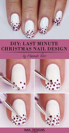 10 Charming Christmas Nail Art Tutorials You'll Adore: #4. Last Minute Christmas Nail Art; #christmasnailart; #nailart; #nailtutorial