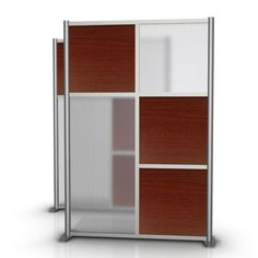 "[[start tab]] DESCRIPTION - Size - 51"" (4'-3"") wide x 75"" (6'-3"") high - Model SKU # SW5175-7-3S-CHER-1S1L-HTW - 3 Small Square Cherry Wood Grain Laminate Insert Panels - 1 small square & 1 Large Rect"