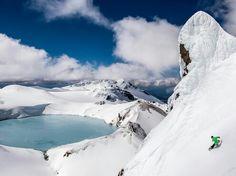 Snowboarding Mount Ruapehu, New Zealand