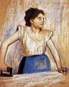 Edgar Degas (French artist, 1834–1917) Girl at Ironing Board