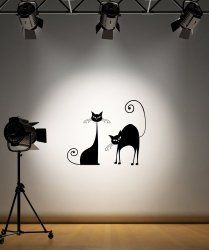Vinyl Wall Decal Sticker Classic Cats #OS_AA101