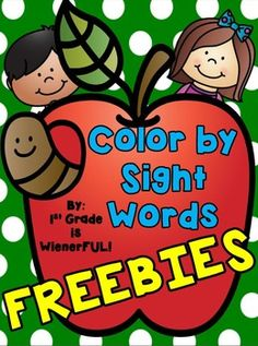 Color By Sight Words~ FREEBIES!  Great for 1st-2nd Grades!
