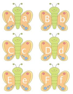 Classroom Freebies: Butterfly Alphabet Cards