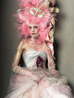 Couture Vogue Italia, March 2005 Photographer: Steven Meisel Christian Lacroix, Spring 2005 Couture