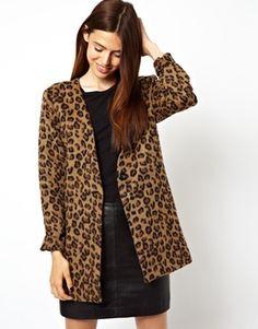 ASOS Blazer in Textured Leopard Print