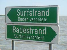 Klar getrennt... Strand, Presentation, Signs, Nice, Separate, Surfing, Shop Signs, Nice France, Sign