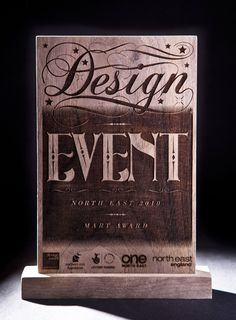 beautifully crafted typography by the Newcastle based design studio Reluctant Hero.