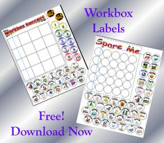 Cornerstone Confessions: Workbox Station and Free Printables