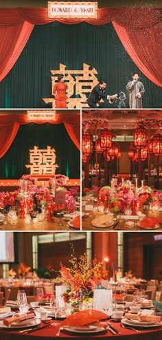 The ultimate 1920's Shanghai-themed oriental red and gold wedding! // Old Shanghai Glamour: Howard and Yi-Ann's Wedding at Grand Hyatt Kuala Lumpur