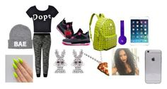 """""""Untitled #48"""" by mrs-rocroyaltheonly on Polyvore featuring NIKE, MCM, Beats by Dr. Dre, Ally Fashion, Skinnydip and Junk Food Clothing"""