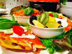 "Ready dinner  Quesadillas 50/50 Rice & fruit  By continental kitchen          ""Sebascocina """