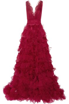 Marchesa | Embellished lace and tulle gown | NET-A-PORTER.COM