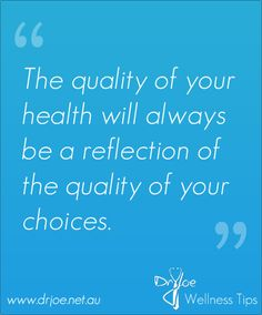 make conscious purposeful choices