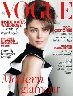 Kati Nescher, photo by Patrick Demarchelier, Vogue UK, February 2013*