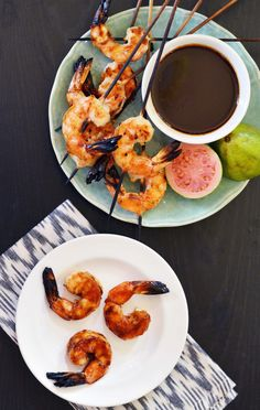 Cuban-Inspired Grilled Shrimp with Rum-Guava Glaze