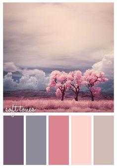 Soft tones palette.