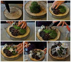 Kerststukjes maken: 4x inspiratie voor 2012 - Christmaholic.nl collage boomstammetje