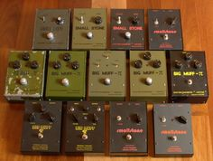 Vintage Electro-Harmonix Russian Big Muff Pis and Small Stones