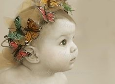 baby and butterfly tiara