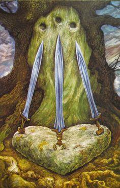 druidcraft tarot three of swords - Pesquisa Google