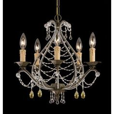 (CLICK IMAGE TWICE FOR UPDATED PRICING AND INFO) #home #ceiling #homeimprovement #homedecor #lighting  #lights #lightandfixture #chandeliers see more chandeliers at http://www.zbrands.com/Chandeliers-C35.aspx - Crystorama Chandeliers - Abigail  Topaz Swarovski Strass Crystal Mini Candle Chandelier in Birch
