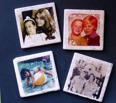 DIY Photo Coasters - Transferring photos to tiles by using inexpensive nail polish remover. Do It Yourself Nails, Do It Yourself Design, Do It Yourself Inspiration, Diy Projects To Try, Crafts To Make, Fun Crafts, Craft Projects, Arts And Crafts, Project Ideas