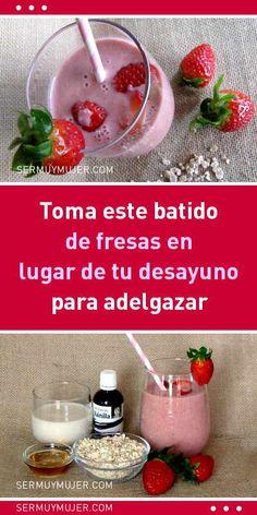 Toma este batido de fresas en lugar de tu desayuno para adelgazar a una manera saludable