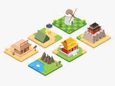 isometric building designed by Rwds. Connect with them on Dribbble; the global community for designers and creative professionals. Building Illustration, Funny Illustration, Graphic Design Illustration, Illustrations, Isometric Art, Isometric Design, Game Design, Icon Design, Cube World