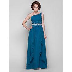 guaina / colonna una spalla piano di lunghezza madre chiffon del vestito sposa – EUR € 148.49
