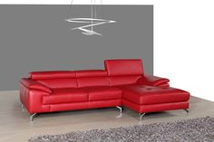 Find J&M Furniture Italian Leather Sectional Left Hand Facing online. Shop the latest collection of J&M Furniture Italian Leather Sectional Left Hand Facing from the popular stores - all in one Red Leather Sectional, Leather Reclining Sectional, Best Leather Sofa, Red Sofa, Leather Sectionals, Leather Recliner, Modern Sectional, Sectional Sofas, Couches