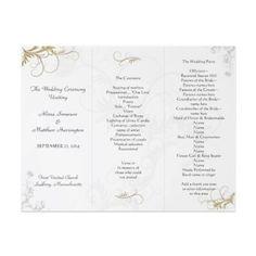 42 best tri fold wedding programs images tri fold bridal