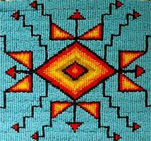 Traditional Lakota Native American beadwork.