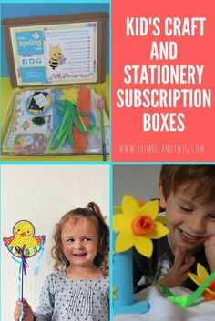 A peek inside Kid's Craft Stationery Boxes with Mila and Pheeb Fun Crafts For Kids, Craft Activities For Kids, Preschool Crafts, Diy For Kids, Holiday Activities, Easy Crafts, Craft Ideas, Subscriptions For Kids, Subscription Boxes For Kids