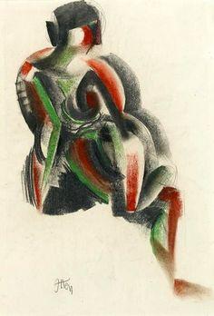 Johannes Itten: Sitting Woman,1919.