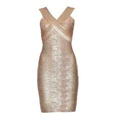 Herve Leger Metallic Dress