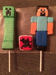 Minecraft Cake Topper by CakeTopperByMe on Etsy Themed Birthday Cakes, Themed Cupcakes, Fun Cupcakes, Birthday Cake Toppers, Birthday Cupcakes, Cupcake Toppers, Minecraft Cake Toppers, Minecraft Cupcakes, Minecraft Birthday Cake