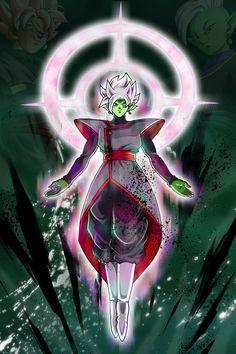 Black Goku, Goku Black Super Saiyan, Zamasu Fusion, Merged Zamasu, Zamasu Black, Dragon Ball Gt, Otaku Anime, Tag Art, Custom Art