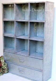 galvanized storage unit