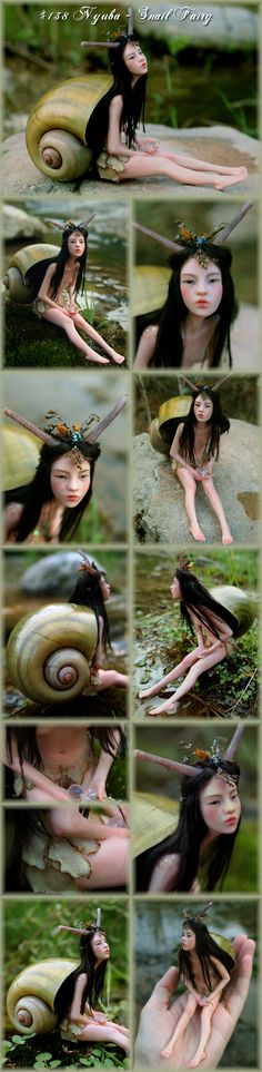 Nenúfar Blanco ~ #138 Nyuba - Snail Fairy