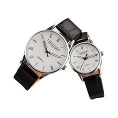 #BangGood - #Eachine1 LNGJINES 7816 PU Leather Band Analog Quartz Watch - AdoreWe.com