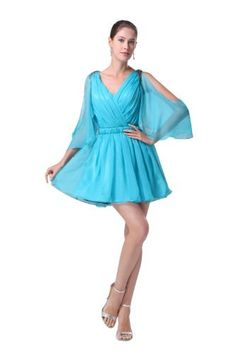 Herafa Long sleeve Princess Prom Dresses Elegant Ruched Blue Size:16 herafa,http://www.amazon.com/dp/B00BQ2E32W/ref=cm_sw_r_pi_dp_O9SQrb6753B24B81
