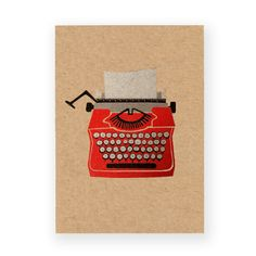 Typewriter Postcard: by Ask Alice